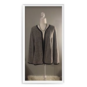 NY Collection Sequin Boucle Blazer/Jacket